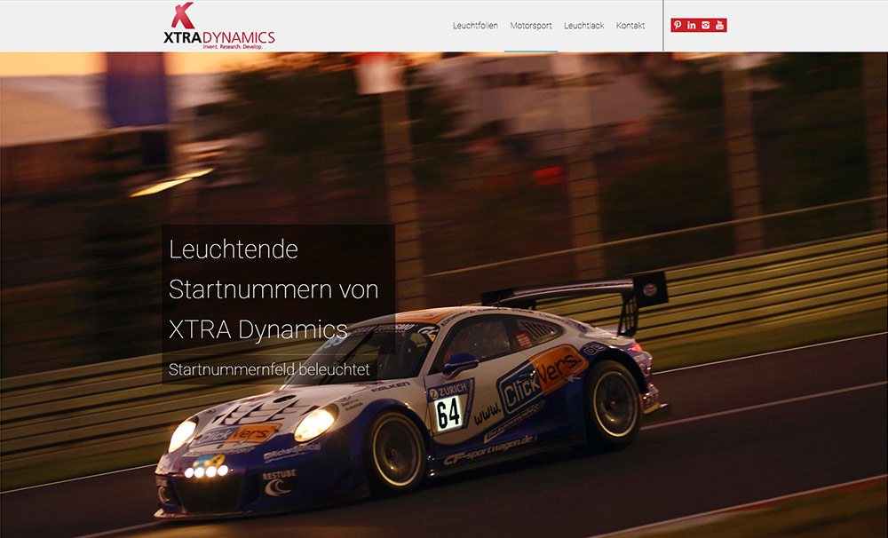 Bild: XTRADYNAMICS Website Motorsport